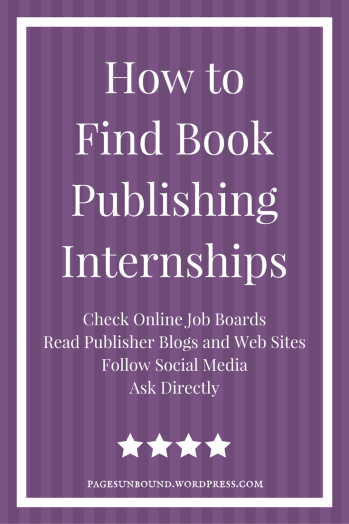 How to Find Book Publishing Internships