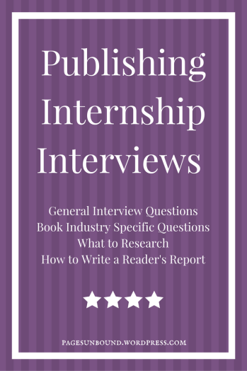 Publishing Internship Interviews Sample Questions