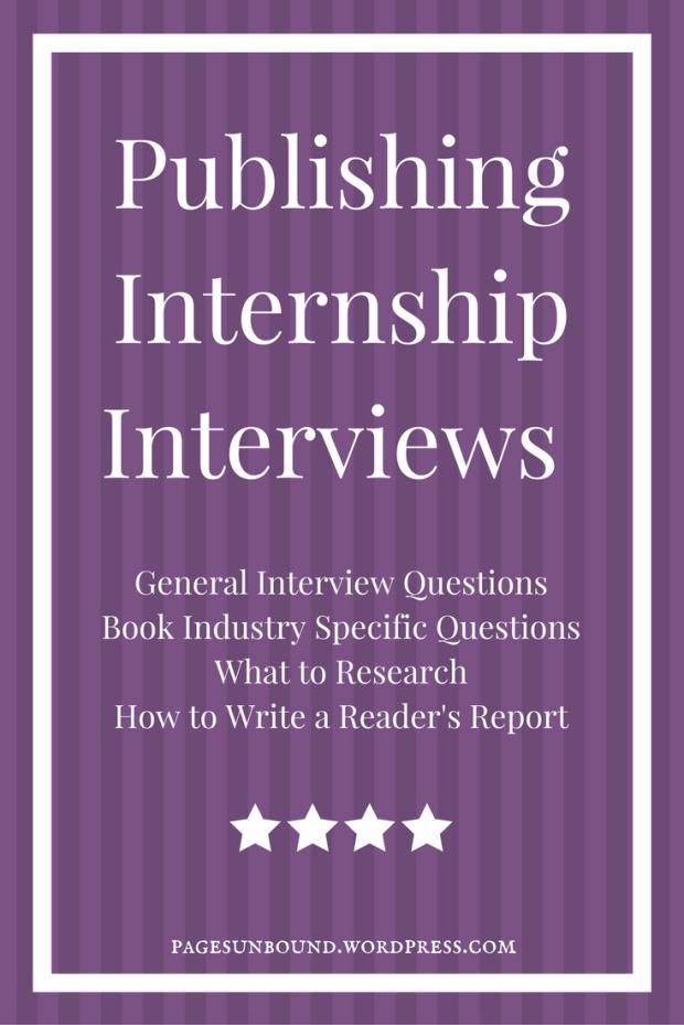 Publishing Internship Interviews Sample Questions