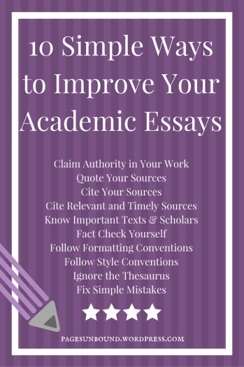 10 Ways to Improve Your Essays (1)