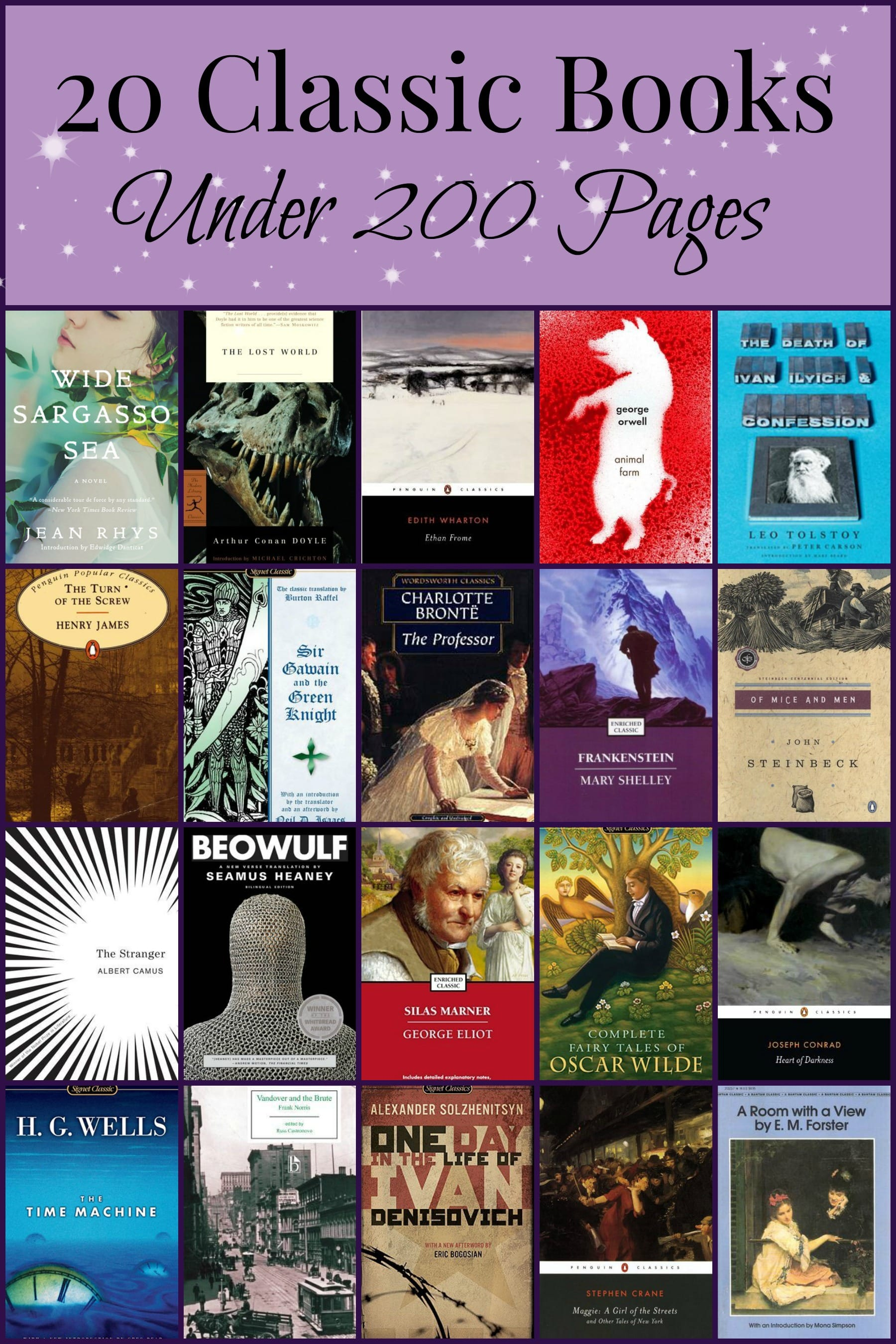 20 Classics Under 200 Pages Pages Unbound Book Reviews Discussions
