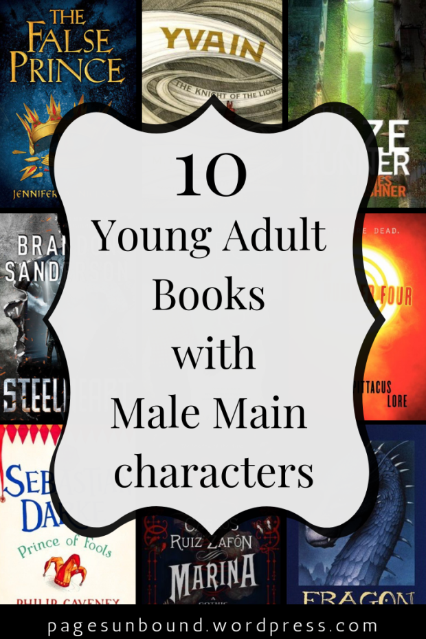10 Young Adult Books with Male Main Characters from Pages Unbound