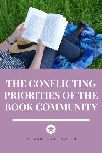 conflicting priorities of the book community-min