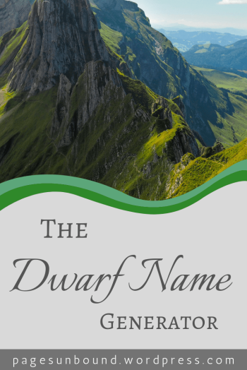 Middle-Earth Dwarf Name Generator
