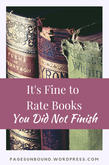 It's Fine to Rate Books You Didn't Finish Reading