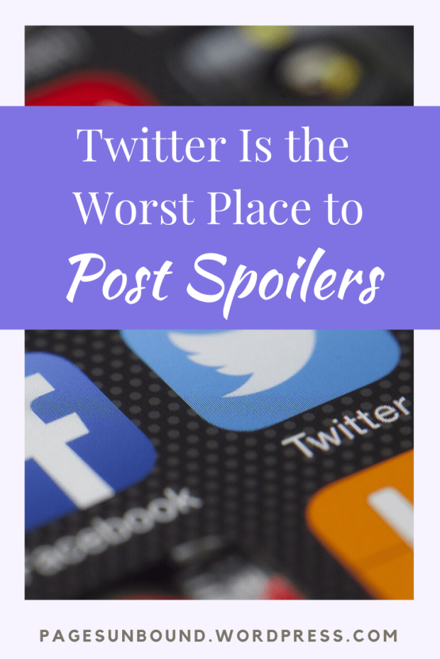 Twitter is the worst place for sharing spoilers pinterest heading