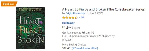 A Heart So Fierce and Broken Amazon Price