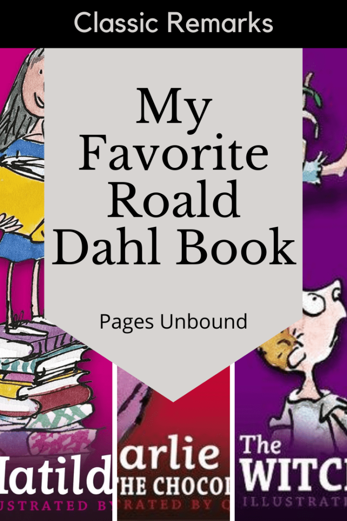 My Favorite Roald Dahl Book Discussion Banner