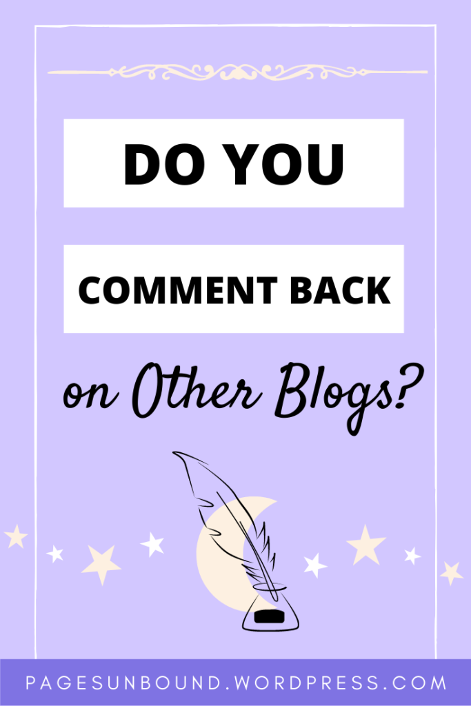 Do you comment back on other blocks?